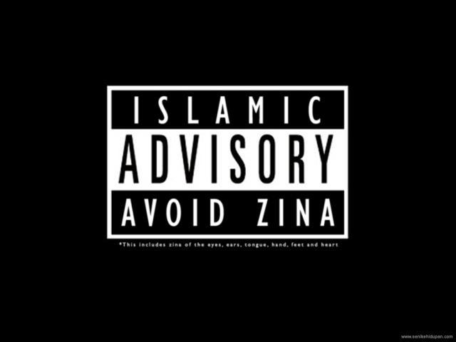Jauhi Zina Sejauh-jauhnya!!!Termasuk juga zina mata,tangan,kaki dan hati(layan perasaan terhadap orang yang berlainan jantina)Jangan DEKATI ZINA!!